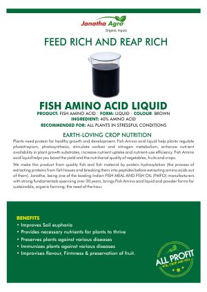 Janatha Fish Amino acid liquid